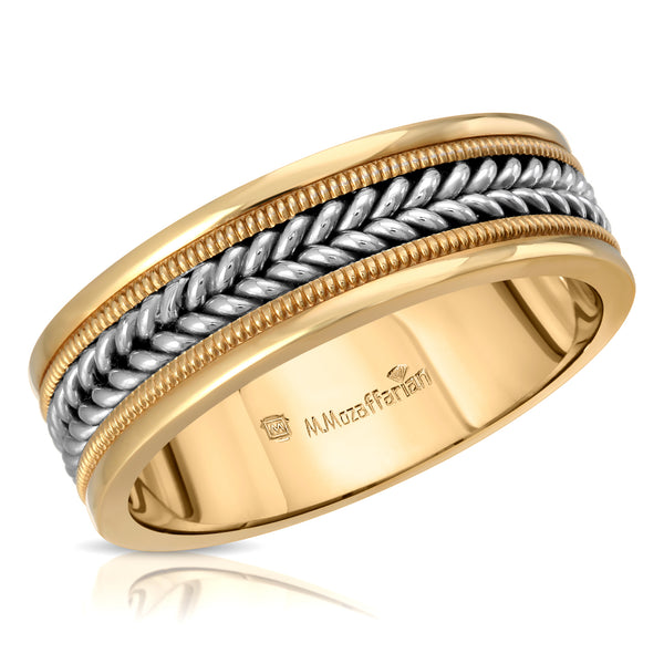 Two Tone Rope Men's Ring