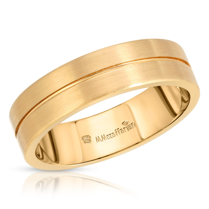 Plain Yellow Gold Men's Ring