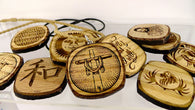Engraved Wood Pendants