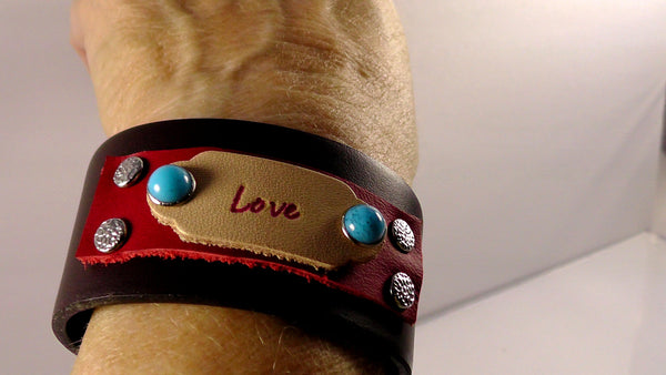 "Leather ""Love""  Bracelet"