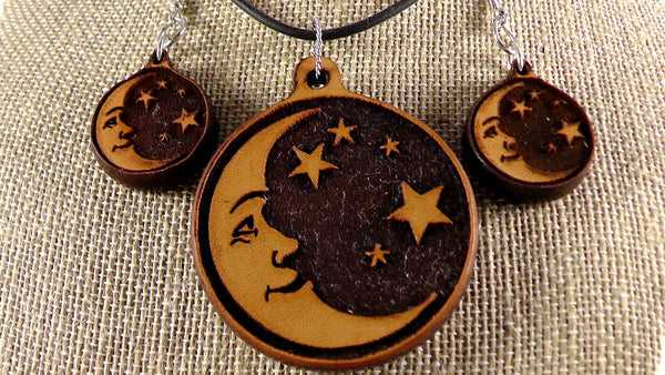 Leather Moon Stars set