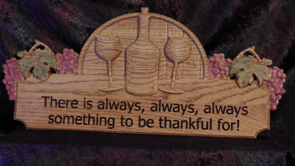 Wooden 3D engraved Thankful Wall Sign
