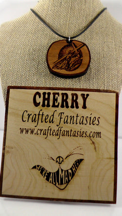 Cherry Wood Religious Themed Pendant - Jesus Carrying the Cross