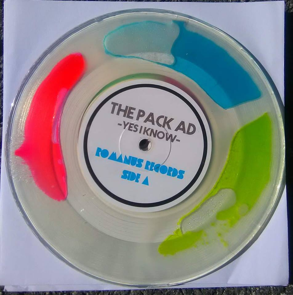 Copy of The Pack Ad (7 inch) Tri Color Liquid Filled B (US 48 AND CANADA SHIPPING ONLY)