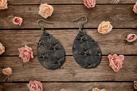 Bronze Star Teardrop Earrings