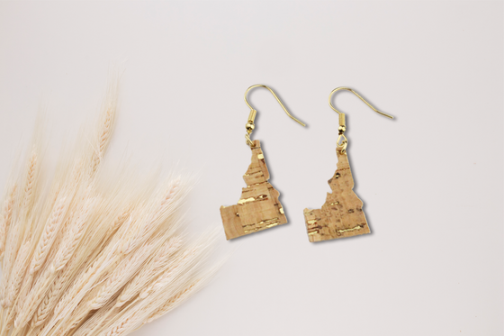 Idaho Gold Cork Earrings