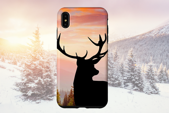 iPhone XR Max Elk Woodland Wildlife Phone Case