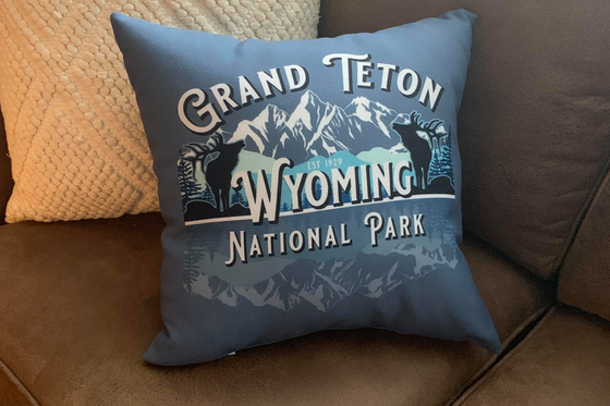 Grand Teton National Park Wyoming Throw Pillow