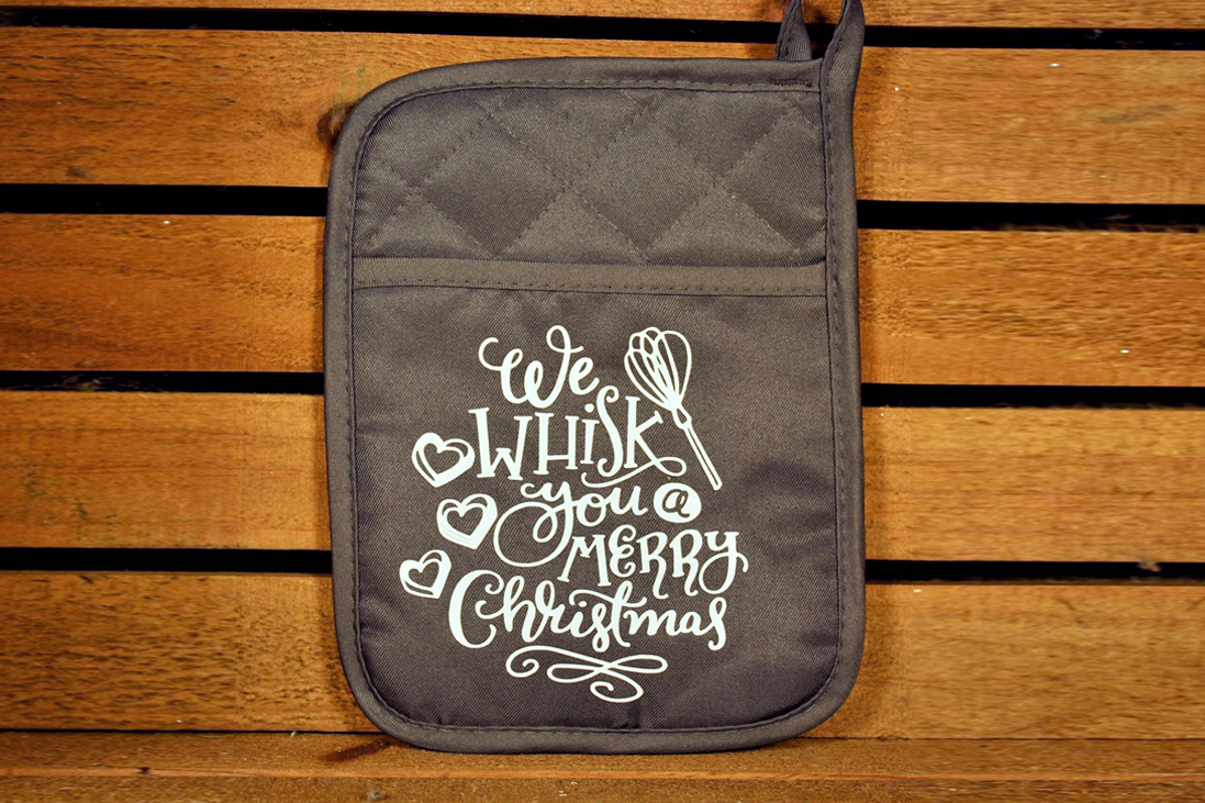Funny Potholder - I Whisk You A Merry Christmas
