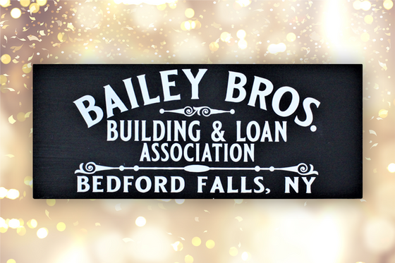 Rustic Wall Sign - Baily Bros. Building & Loan Association