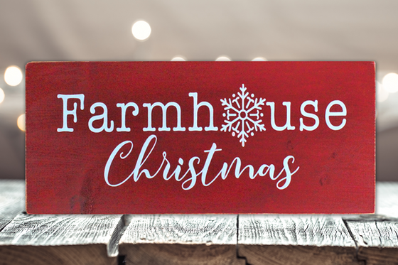 Rustic Wall Sign - Farmhouse Christmas