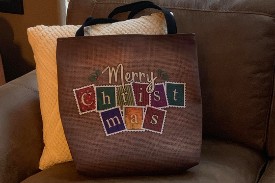 Old Fashioned Merry Christmas Tote Bag