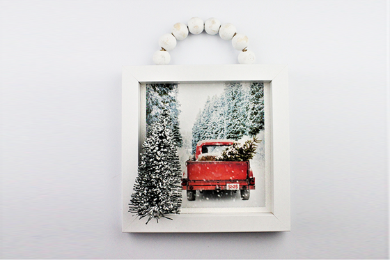 Wall Art - Christmas Old Red Truck