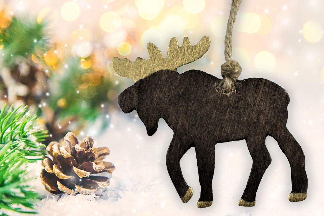 Wooden Moose Ornament