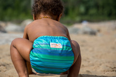 Reef sea green tropical cloth diaper from Smart Bottoms