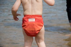 Horizon orange stripes Smart Bottoms cloth diaper
