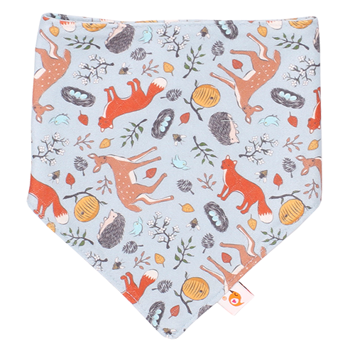 Smart Bottoms - Bandana Bib - Forest Friends - Animal print - absorbent and cute bib