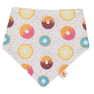 Smart Bottoms - Bandana Bib - Sprinkles - donut bib print - absorbent and cute bib