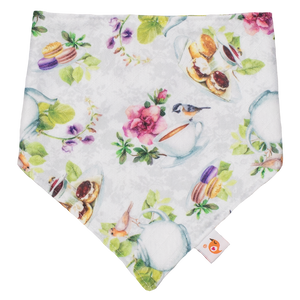 Smart Bottoms - Drool bib - Tea Party - English tea time print cotton children's bib
