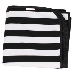 Smart Bottoms - Beach Blanket - Manhattan Print - Waterproof beach blanket - Black and white stripe print