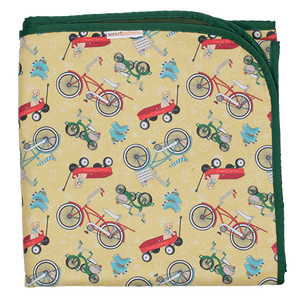 Beach Blanket - How We Roll - smartbottoms - Bikes and skates print waterproof beach blanket