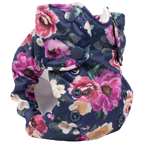 Smart Bottoms - Born Smart Newborn Diaper - Organic cloth diaper - Petit Bouquet - cute floral print newborn diaper
