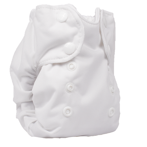 Smart Bottoms - Born Smart 2.0 cloth diaper - Newborn cloth diaper - White cloth diaper - Organic Cotton Newborn Cloth Diaper