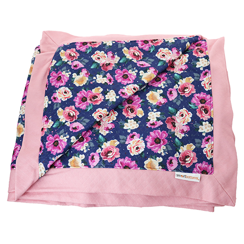 Smart Bottoms - Cuddle Blanket - Petit Bouquet Print - Adult blanket - Children's blanket - Floral print