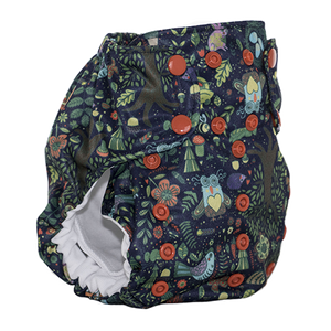 Smart Bottoms - Dream Diaper 2.0 cloth diaper - enchanted forest animal print cloth diaper - organic cotton cloth diaper