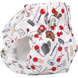 Smart Bottoms - Dream Diaper 2.0 cloth diaper - Doc print cloth diaper -  Organic cotton cloth diaper