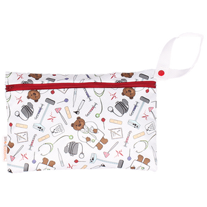 Smart Bottoms - Small Wet Bag - Doc print - cute medical print waterproof cloth diaper bag
