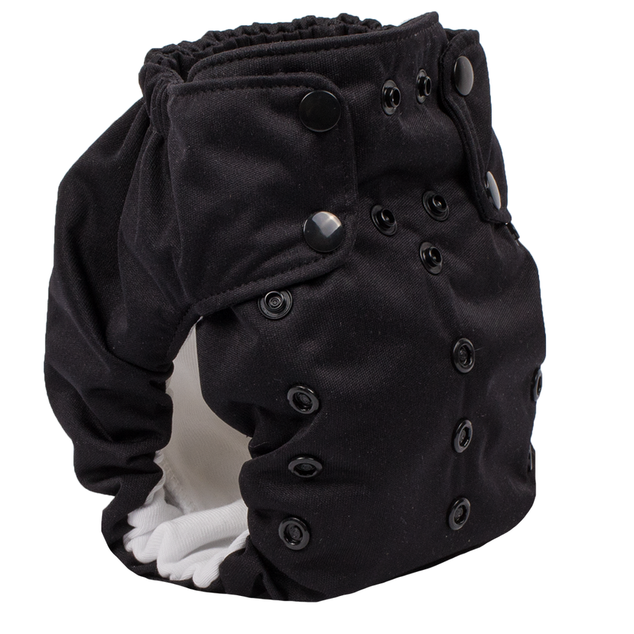 Smart Bottoms - Dream Diaper 2.0 cloth diaper - Basic Black color cloth diaper -  Organic cotton cloth diaper