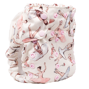 Smart Bottoms - Dream Diaper 2.0 cloth diaper - Little Dancers - Ballerina print cotton cloth diaper