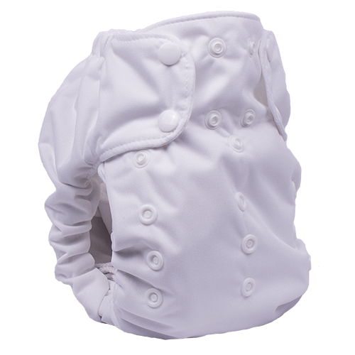 Smart Bottoms - Dream Diaper 2.0 Cloth Diaper - White Cloth Diaper - solid white cloth diaper