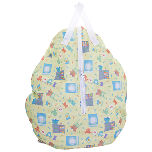 Smart Bottoms - Hanging Wet Bag - cloth diaper storage bag - waterproof cloth diaper bag - Laundry bag print