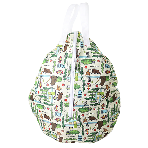 Smart Bottoms - Hanging Wet Bag - cloth diaper storage bag - waterproof cloth diaper bag - Campfire Tails print - animal print