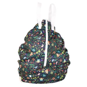 Smart Bottoms - Hanging Wet Bag - cloth diaper storage bag - waterproof cloth diaper bag - Enchanted print - enchanted forest animal print
