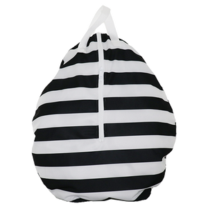 Smart Bottoms - Hanging Wet Bag - cloth diaper storage bag - waterproof cloth diaper bag - Manhattan print - black and white stripe print