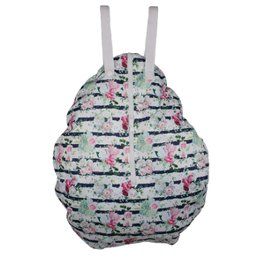 Smart Bottoms - Hanging Wet Bag - cloth diaper storage bag - waterproof cloth diaper bag - Belle Blossom print - floral print