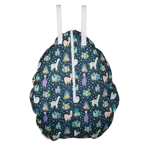 Smart Bottoms - Hanging Wet Bag - cloth diaper storage bag - waterproof cloth diaper bag - Llama print wet dry cloth diaper bag
