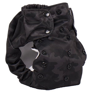 Smart Bottoms - Dream Diaper 2.0 cloth diaper - Incognito print cloth diaper -  Organic cotton cloth diaper - black camouflage print cloth diaper