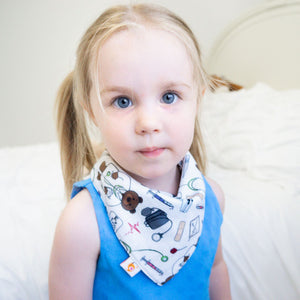 Smart Bottoms - Bandana Bib - Doc - Animal and medical print - absorbent and cute bib
