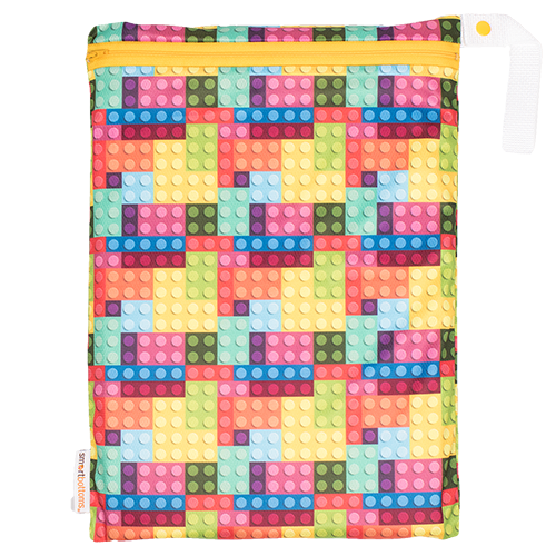 Smart Bottoms - On the Go Mesh Bag - Blocks print - cute mesh storage bag - reusable and washable mesh bag