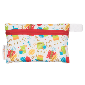 Smart Bottoms - Mini Wet Bag - Birthday Party - Balloons and streamers party print waterproof bag