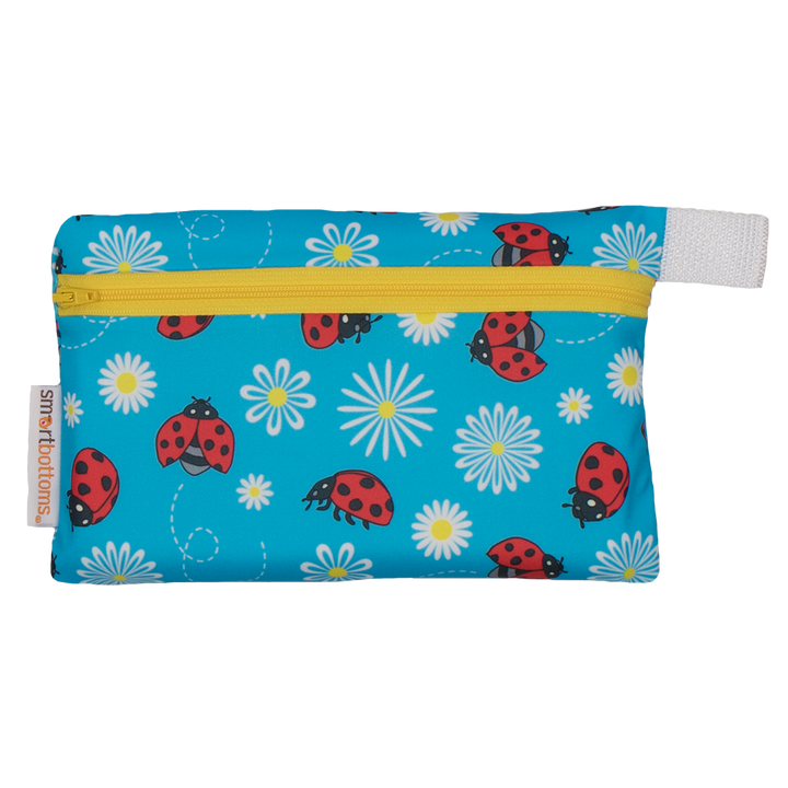 Smart Bottoms - Mini Wet Bag - Little Ladybugs - waterproof bag - blue ladybug bag