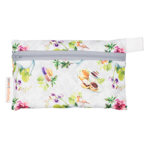 Smart Bottoms - Mini Wet Bag - Tea Party Print - waterproof bag - English tea time print waterproof bag