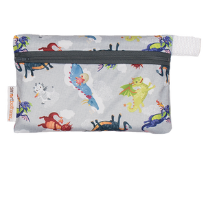 Smart Bottoms - Mini Wet Bag - Dragon Dreams Print - waterproof bag - cute dragons waterproof cloth diaper bag