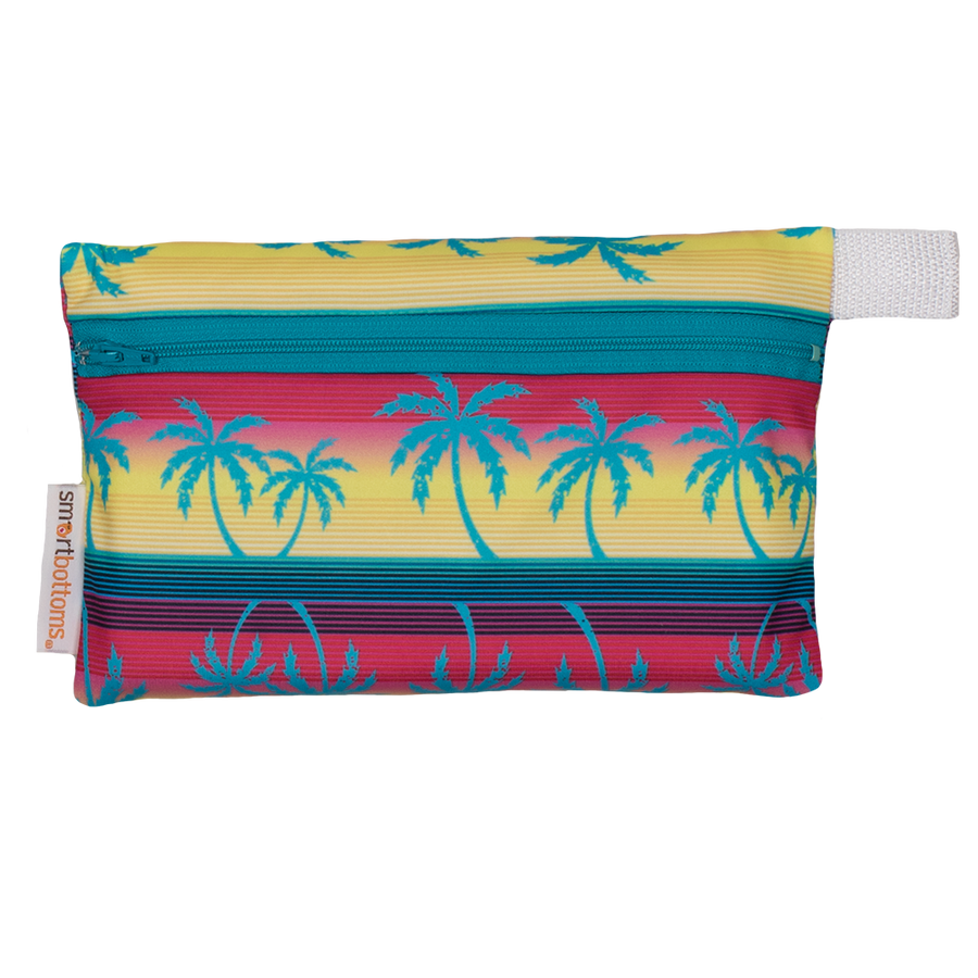 Smart Bottoms - Mini Wet Bag - Tropic Like It's Hot Print - waterproof bag - tropical palm trees waterproof bag