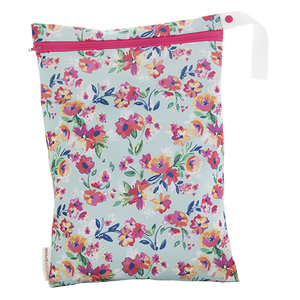 On-the-Go Wet Bag - Aqua Floral - smartbottoms