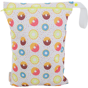 Smart Bottoms - On the Go wet bag - Sprinkles - waterproof cloth diaper bag -cute donut print bag